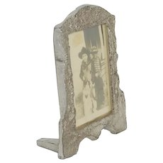 Early 1900's Cast Aluminum Picture Frame