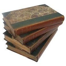 Late 1800's Leather Bound Decorative Books