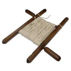 Vintage Primitive Hand Made Wooden String Winder