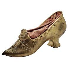 Vintage Large Victorian Metal Shoe Pin Cushion