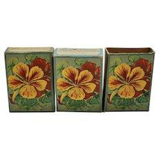 3 Vintage seed boxes