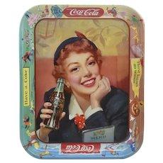 Vintage 1953 Coca-Cola Advertising Serving Tray - Menu Girl