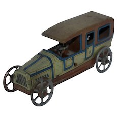 Early 1900's German Tin Litho Penny Toy Limousine - Georg Fischer