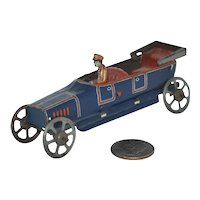 Early 1900's German Tin Litho Penny Toy  Open  Tourer - Georg Fischer