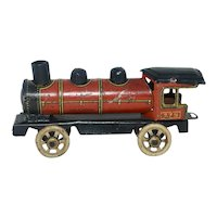 1920's Tin Lithograph Toy Train Locomotive Penny Toy - Made In Germany
