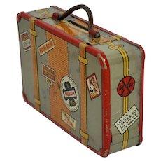 Vintage 1930's Louis Marx Tin Lithographed Suitcase Bank