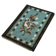 Antique Beaded Note Folio - Dated 1851