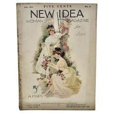 "June 1906 ""NEW IDEA"" Women's Magazine"
