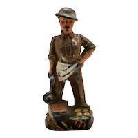 Pre-War Manoil M-90 Cook's Helper with Ladle - Toy Soldier