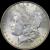 1886-p Colorfully Toned Morgan $1 Grades Choice+ Unc