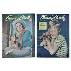 2 Early 1950's Family Circle Magazines
