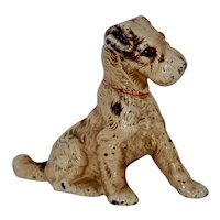 Vintage Hubley Cast Iron Terrier Bank