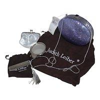 Vintage Judith Leiber Swarovski Crystal Fullbead Lavender Amethyst Purse