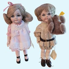 """Phyllis Wright 9"""" all original artist dolls w/ tags-Adorable!"""
