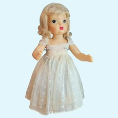 """Vintage Terri Lee 16"""" Doll in tagged Yellow Summer Ball Gown"""