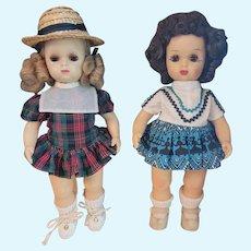 "Two Tiny Terri Lee 10"" Dressed Dolls"