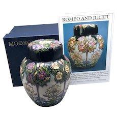 Moorcroft Shakespeare Romeo & Juliet Ginger Jar Rachel Bishop