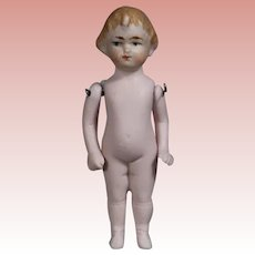 Antique German All Bisque Doll 3.5""