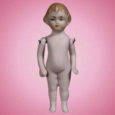 "Antique German All Bisque Doll 3.5"""