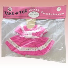 MIP 1950s Baby Dress 14-15 Inches Tiny Tears Dydee Ardee Company Brooklyn