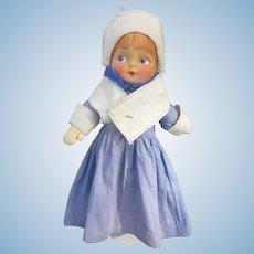 Blossom Cloth Pilgrim Priscilla Doll 1930s All original