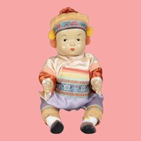 Vintage All Orig! Composition Asian Ming Ming Doll!