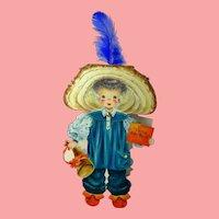 MINT 1947  Hallmark Doll Card Little Boy Blue unused