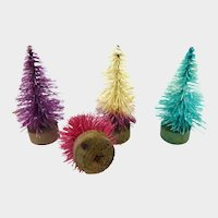 Vintage Miniature Dyed Trees 1 1/2 inches
