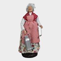 Vintage French Provence France Santon Lady Milkmaid Doll!
