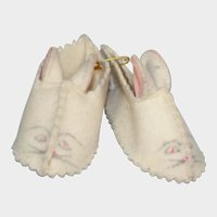 Vintage Terri Lee Doll Bunny Slippers! So cute!