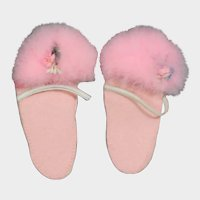 Darling Vintage Fuzzy Pink Doll Slippers!