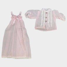 Lovely! Vintage Fashion Doll 2Pc Peignoir Lingerie Set!