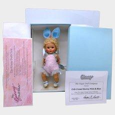 MIB Ginny Crib Crowd Bunny Pink and Blue 2004 Ltd. Ed.