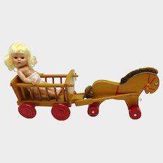German Wooden Toy Cart 1930s-40s