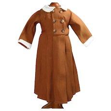 """Vintage 18"""" Kestner Daisy Brown Dress by Global"""