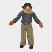 1940 Hand Painted Hand Knitted Costume New Brunswick Man