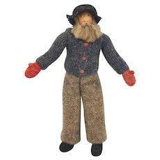 1940 Hand Painted Hand Knitted Costume New Brunswick Man