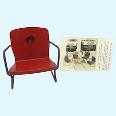 Vintage 1945 Republic Dolly's Metal Chair &  Original Real Photo Ad Card