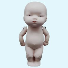 German All Bisque Baby 4 1/2 inches Jointed Arms Circa 1920