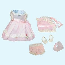 1950s Vintage Pink Organdy Tagged Vogue Ginnette Outfit!