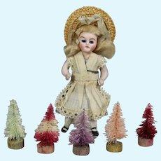 Vintage Mini Doll Dyed Christmas Trees!