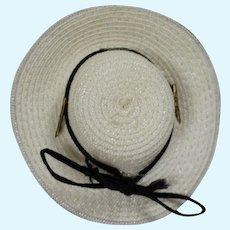 Vintage 1950s Soft Straw Doll Hat - Ginny Cissette Alexander-kins Etc!