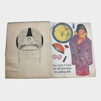 Very Rare 1922 Book Pansy Eyes WITH DOLL to Make