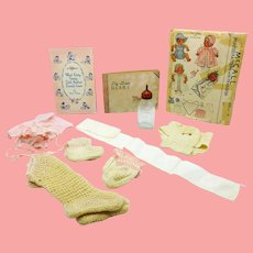 Dy-Dee Collection  Diary, Bottle, Aunt Patsy Booklet, Belly Band, Pattern and more Dydee