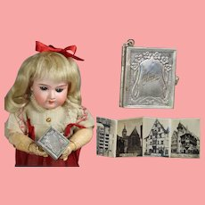 Antique French Fashion Doll Size Locket Photos COLMAR Alsace France