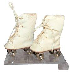 Darling Vintage Oil Cloth Doll Roller Skates!