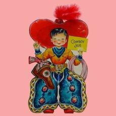 1947 MINT Hallmark Doll Card Cowboy Joe International Series UNUSED