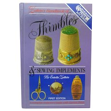 Book Thimbles and Sewing Implements by Estelle Zalkin Very Good