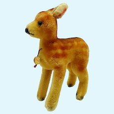 Vintage German Doll Size Mohair Fawn Baby Deer Hermann