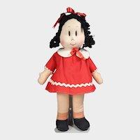 Vintage Georgene Averill Cloth Little Lulu Doll